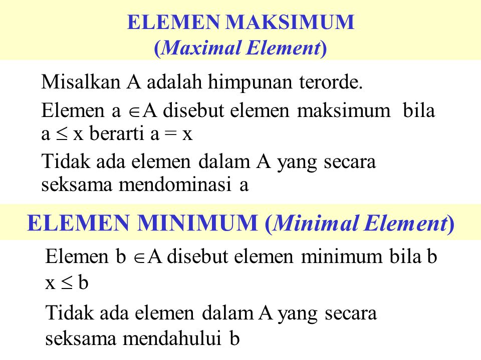ELEMEN PERTAMA (First Element)