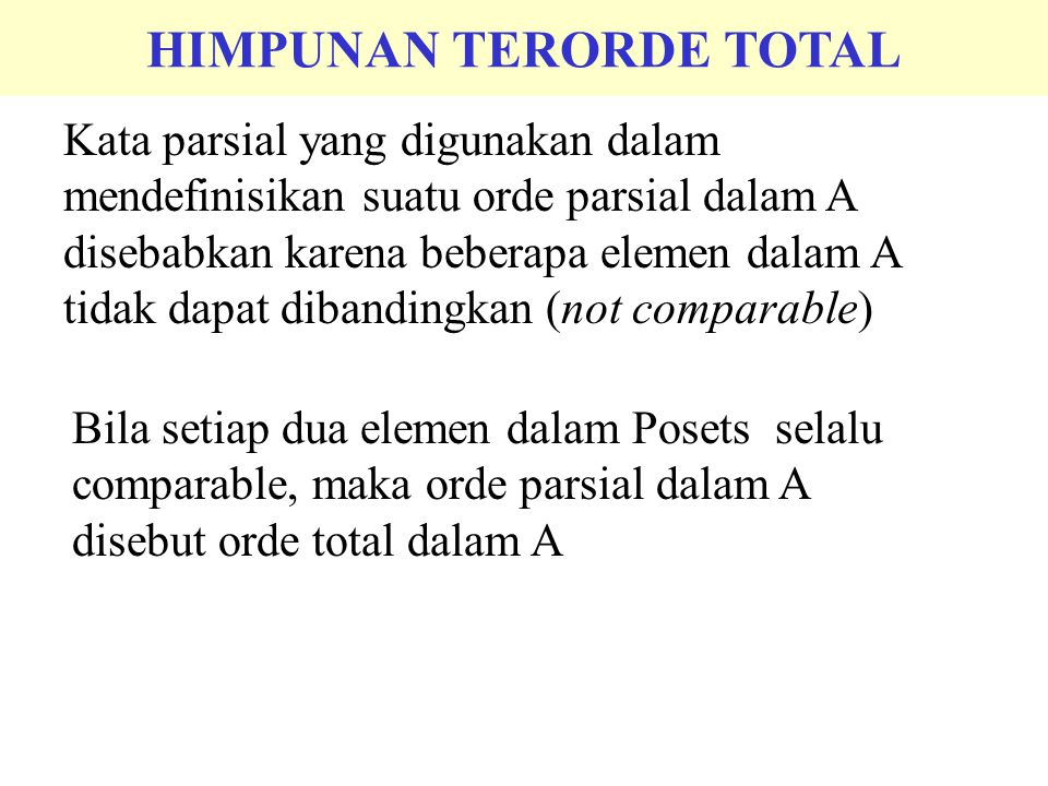 HIMPUNAN TERORDE TOTAL