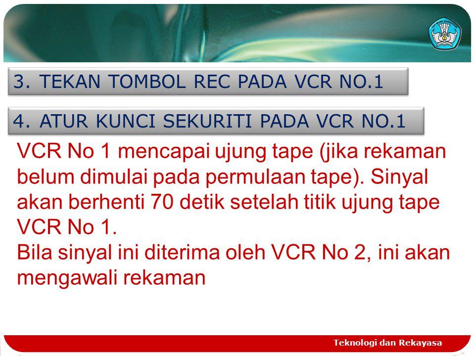 Bila sinyal ini diterima oleh VCR No 2, ini akan mengawali rekaman