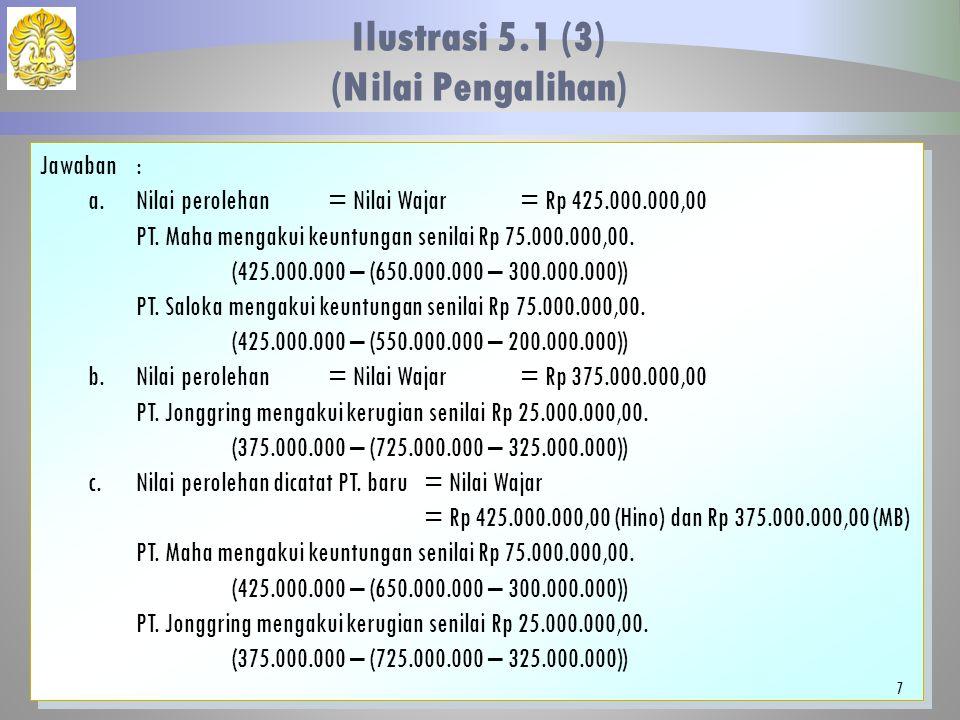 Ilustrasi 5.1 (3) (Nilai Pengalihan)