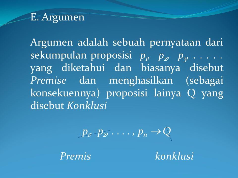 E. Argumen