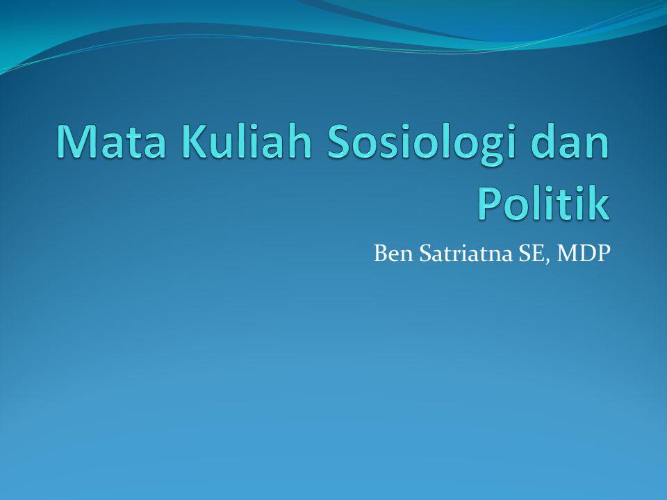 Mata Kuliah Sosiologi dan Politik