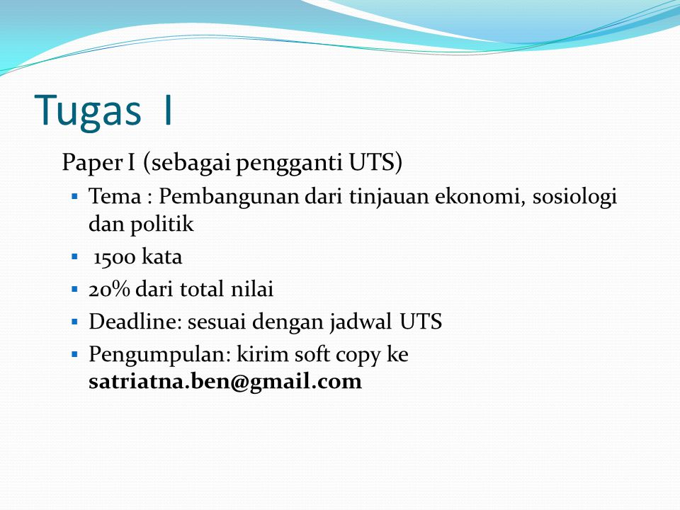 Tugas I Paper I (sebagai pengganti UTS)