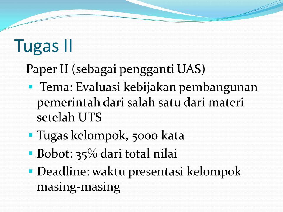 Tugas II Paper II (sebagai pengganti UAS)