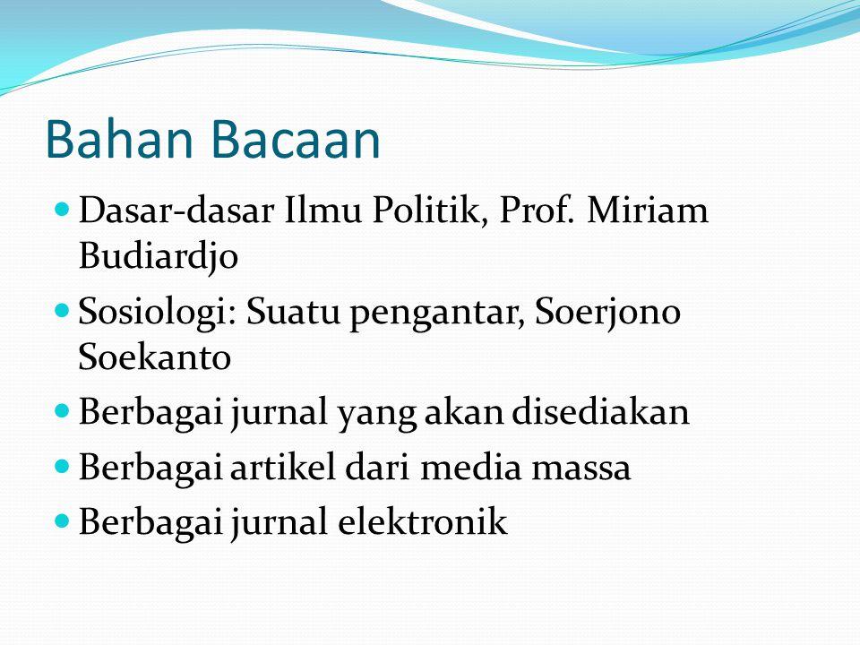Bahan Bacaan Dasar-dasar Ilmu Politik, Prof. Miriam Budiardjo