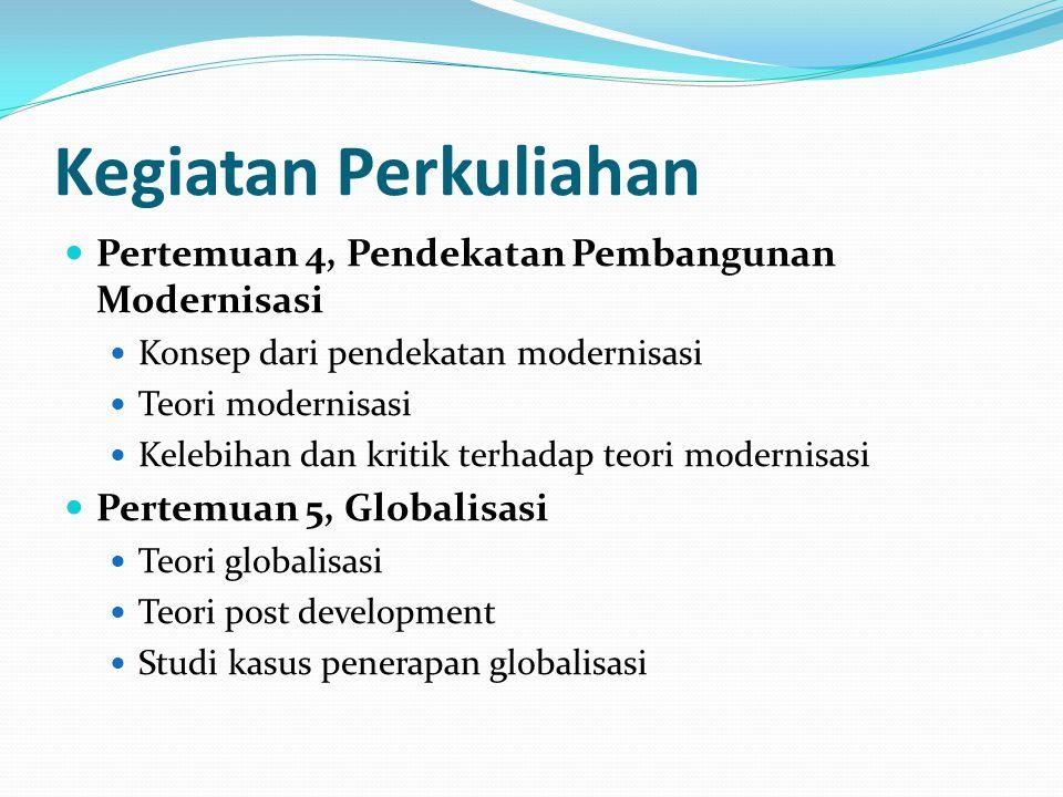 Kegiatan Perkuliahan Pertemuan 4, Pendekatan Pembangunan Modernisasi