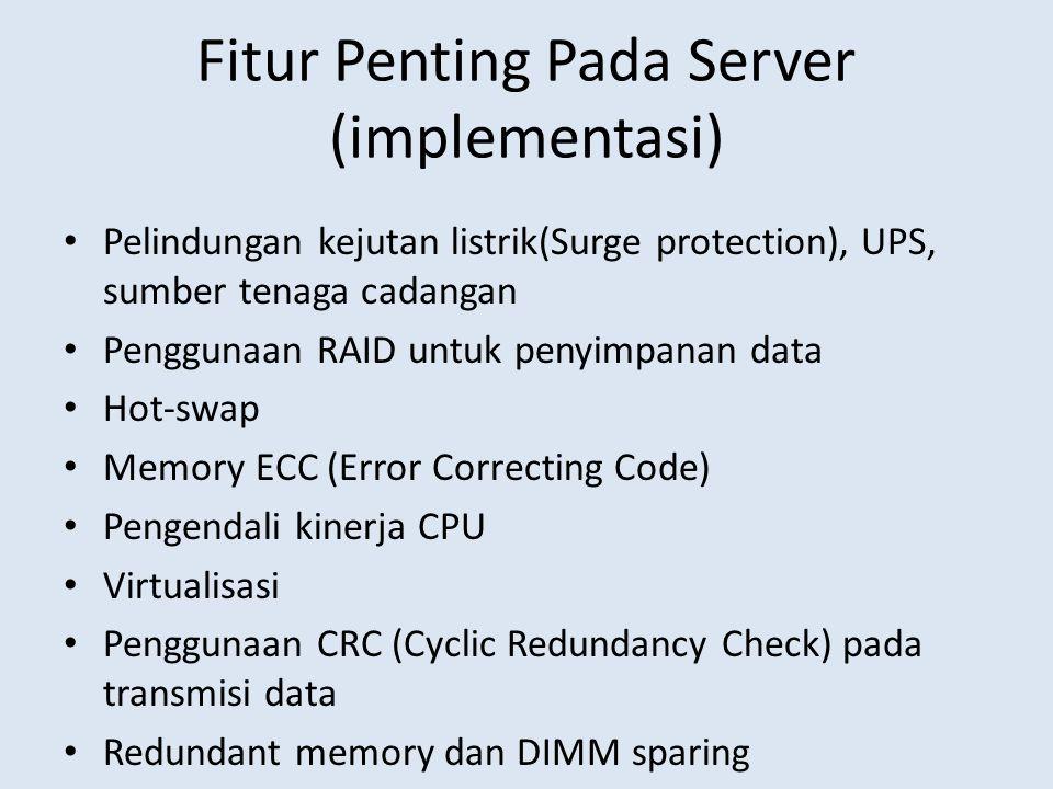 Fitur Penting Pada Server (implementasi)