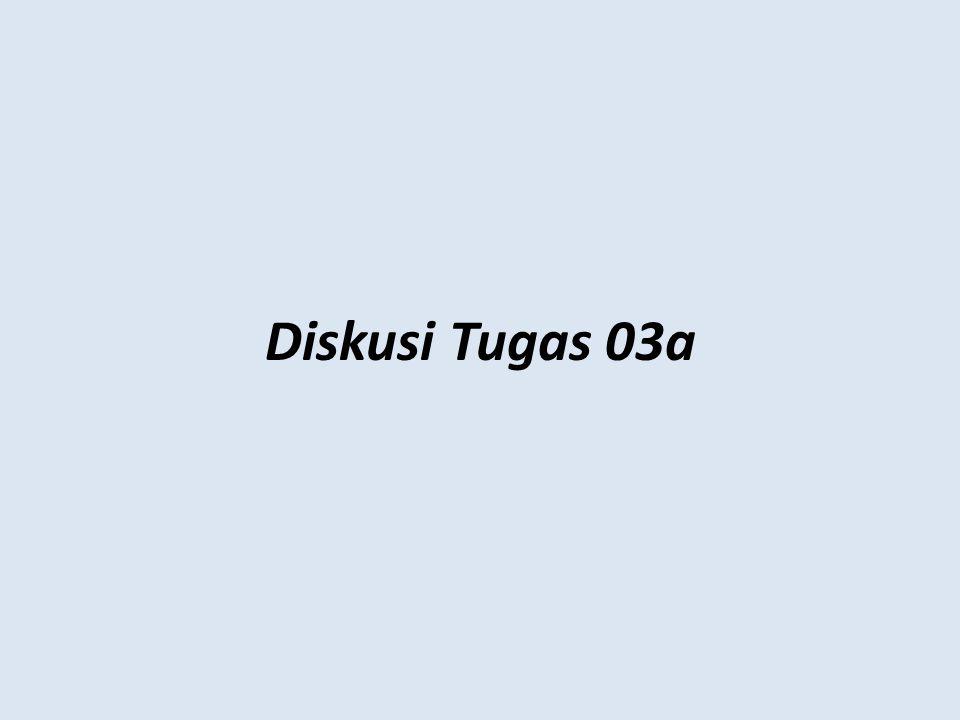 Diskusi Tugas 03a