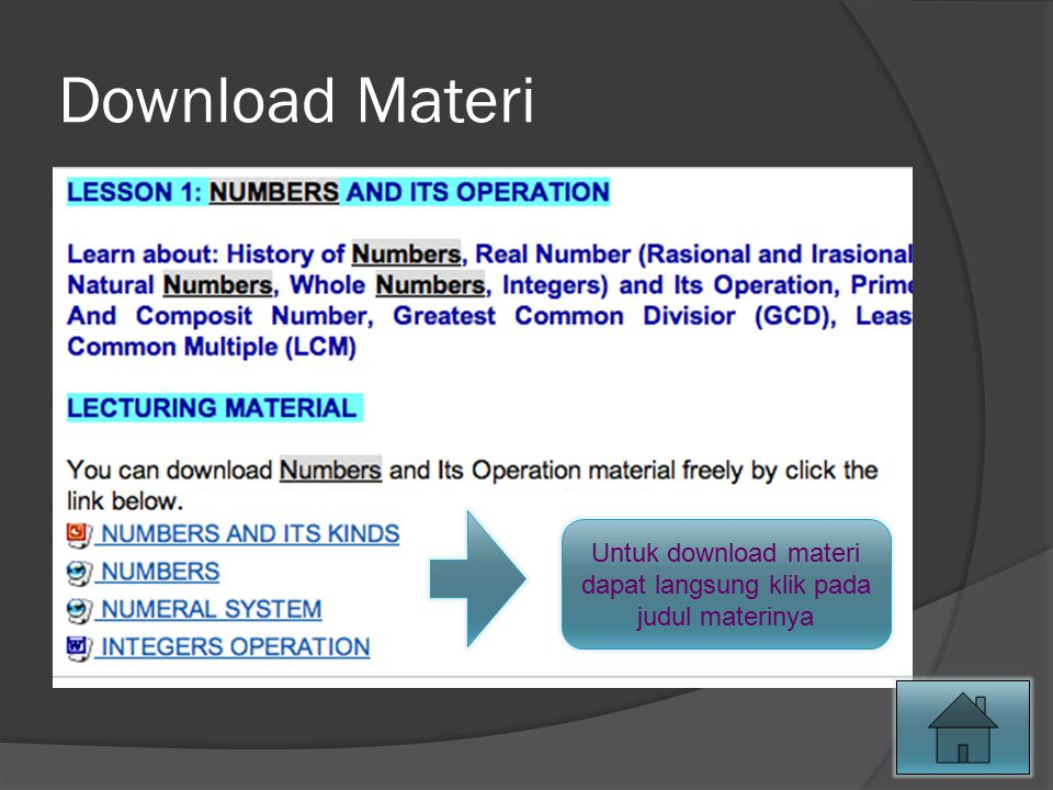 Untuk download materi dapat langsung klik pada judul materinya