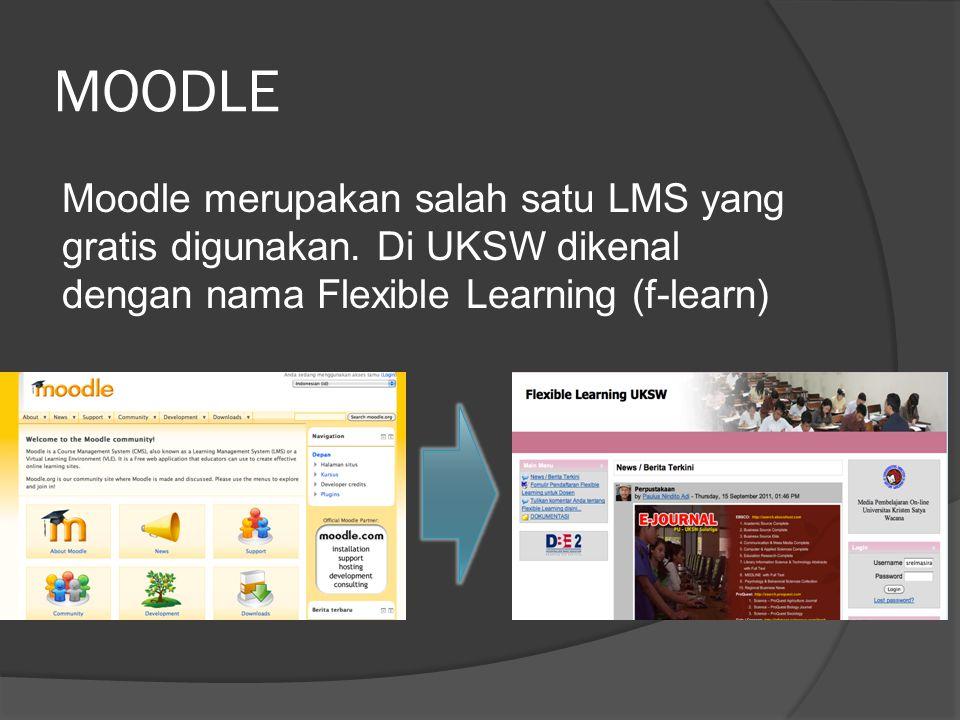 MOODLE Moodle merupakan salah satu LMS yang gratis digunakan.