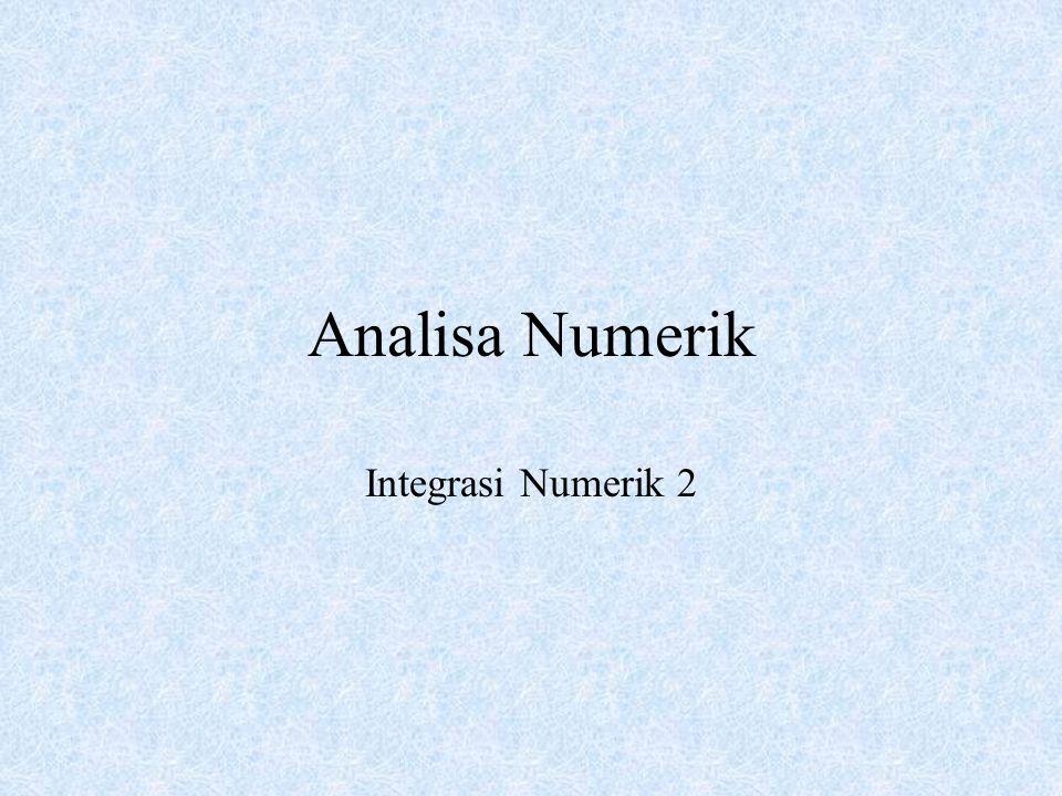 Analisa Numerik Integrasi Numerik 2
