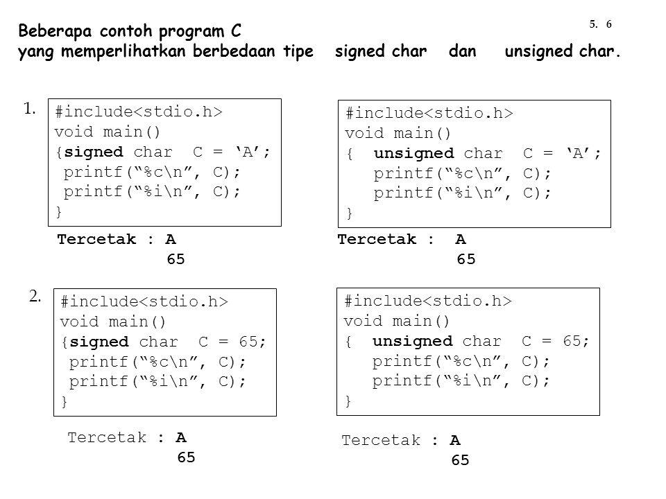 Beberapa contoh program C
