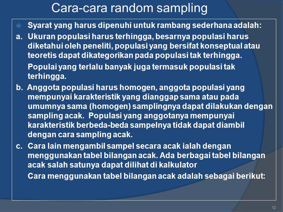 Cara-cara random sampling