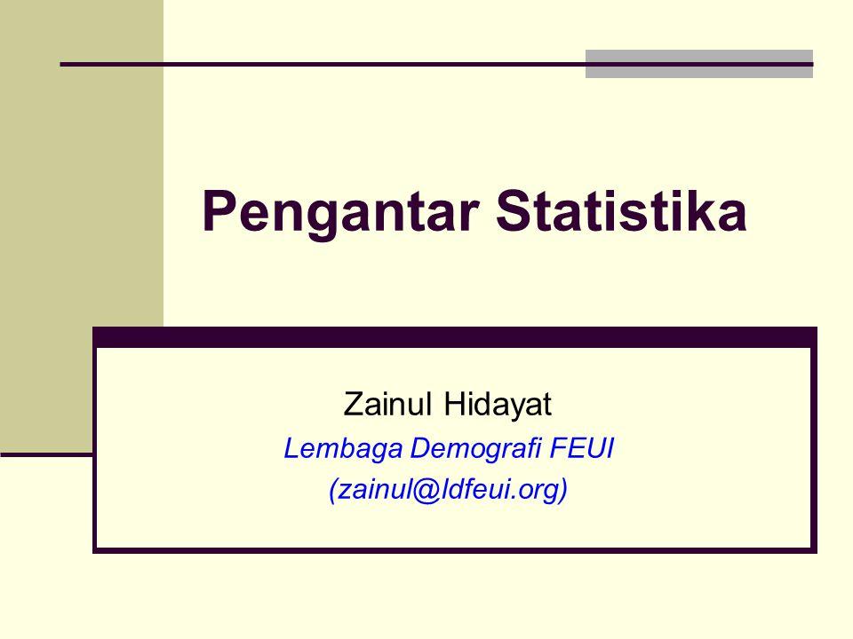 Zainul Hidayat Lembaga Demografi FEUI (zainul@ldfeui.org)