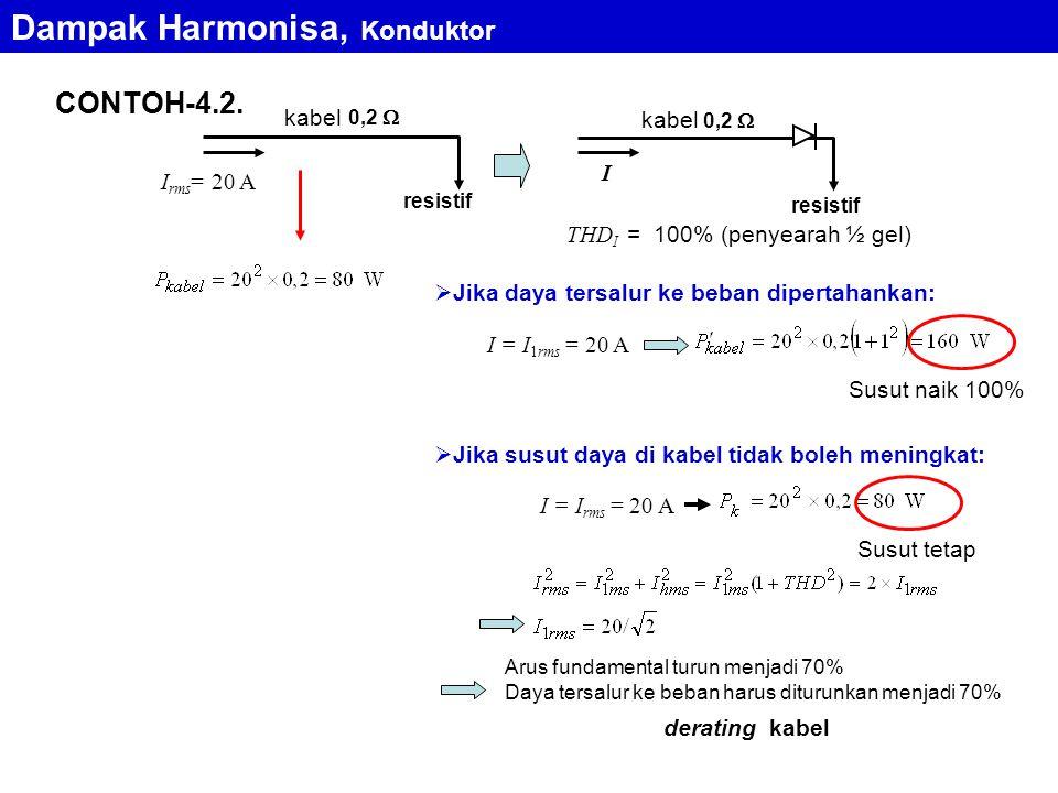 Dampak Harmonisa, Konduktor