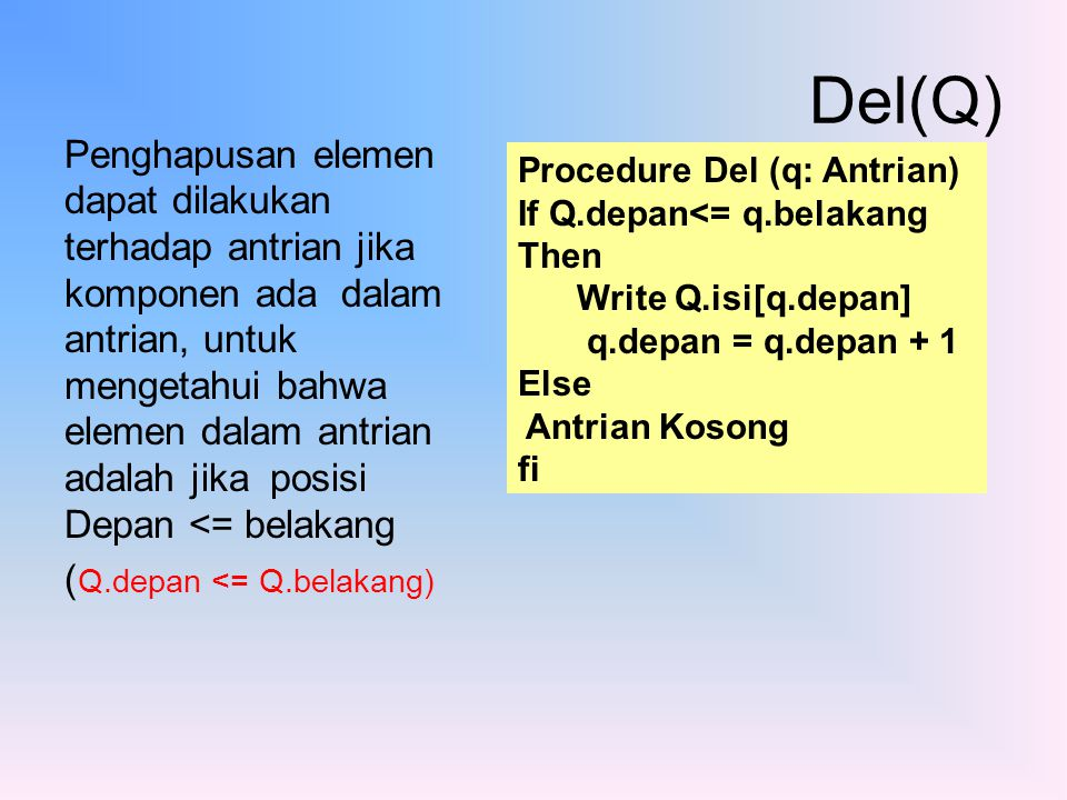 Del(Q)