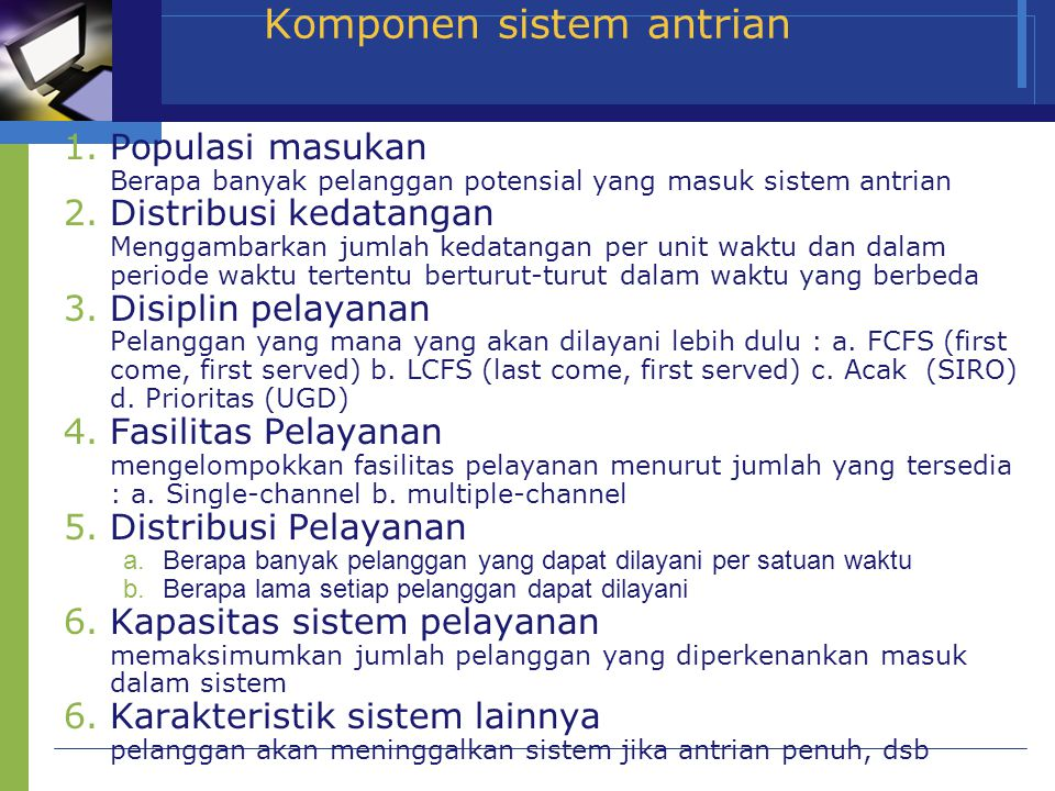 Komponen sistem antrian