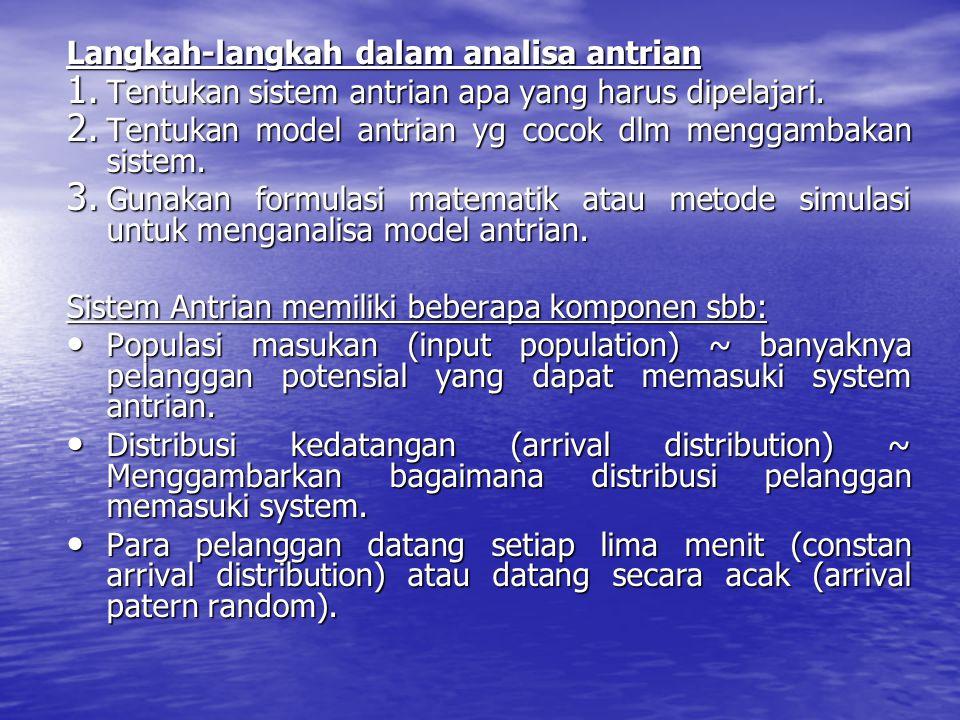 Langkah-langkah dalam analisa antrian