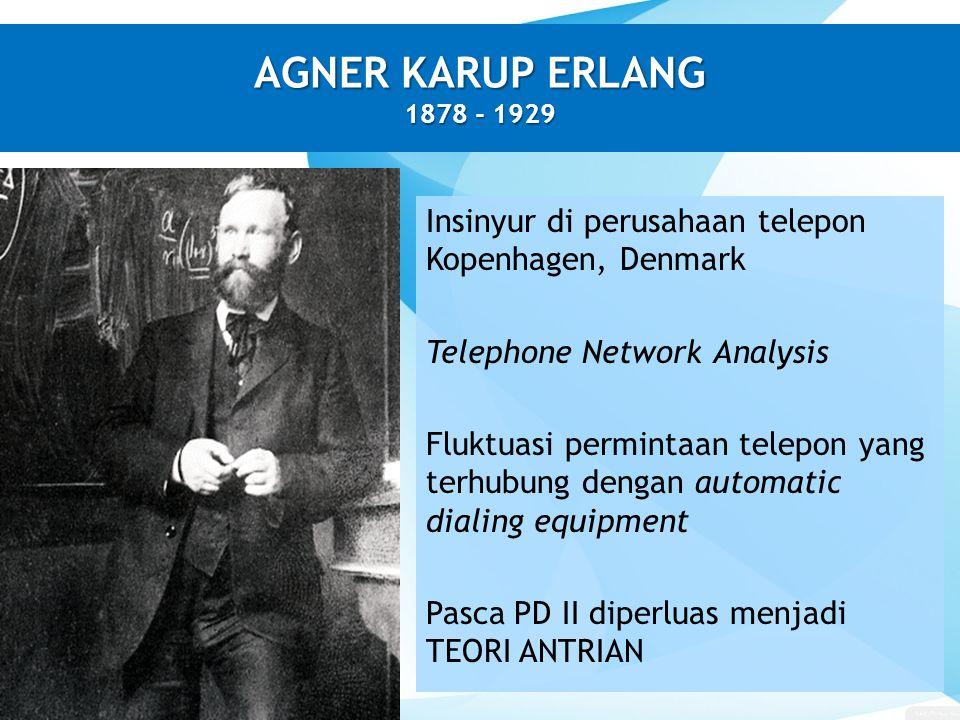 AGNER KARUP ERLANG 1878 - 1929