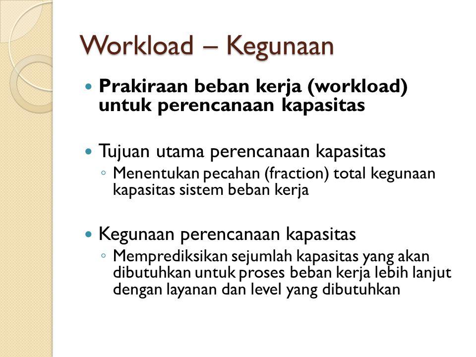 Workload – Kegunaan Prakiraan beban kerja (workload) untuk perencanaan kapasitas. Tujuan utama perencanaan kapasitas.