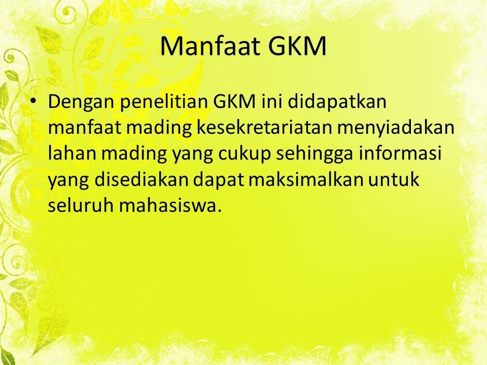Manfaat GKM