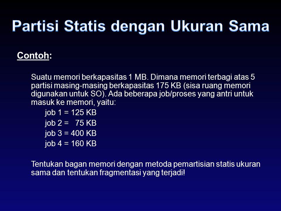Partisi Statis dengan Ukuran Sama