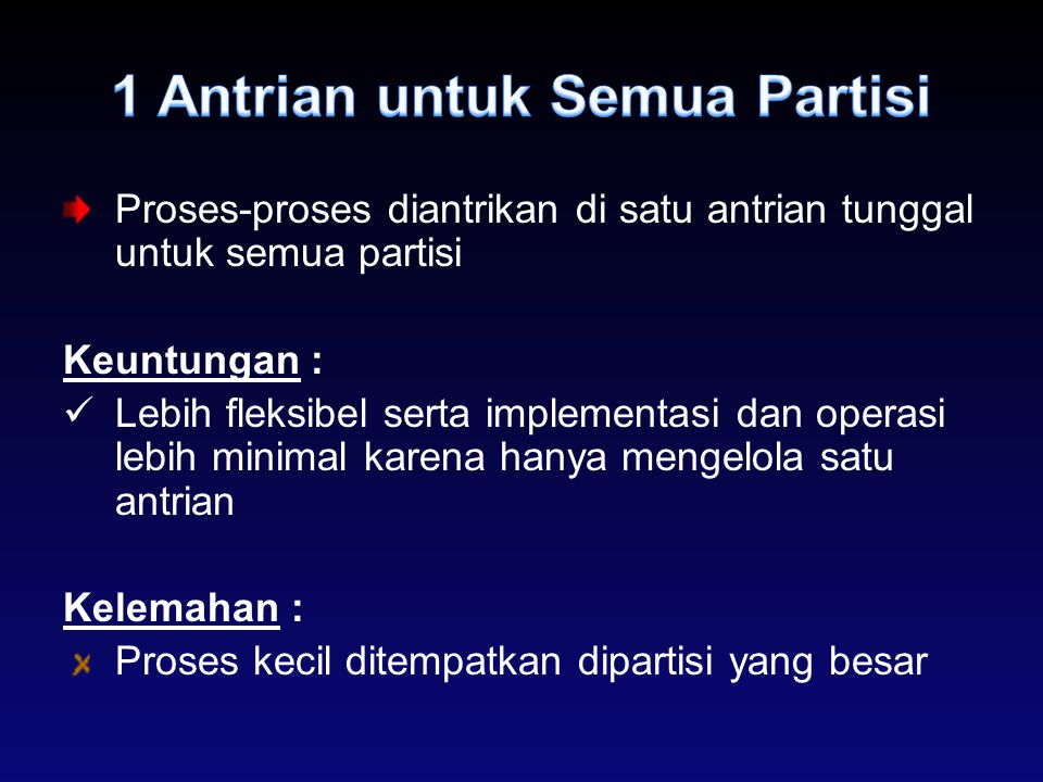 1 Antrian untuk Semua Partisi