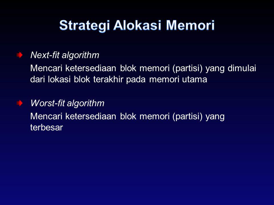 Strategi Alokasi Memori