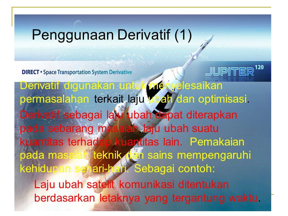 Penggunaan Derivatif (1)