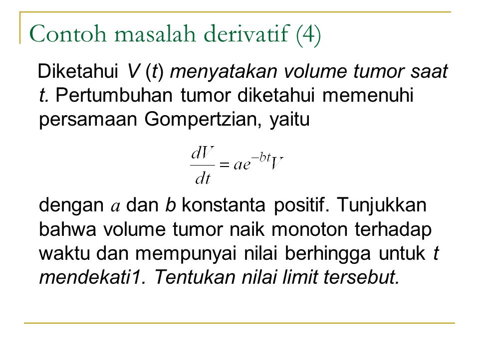 Contoh masalah derivatif (4)