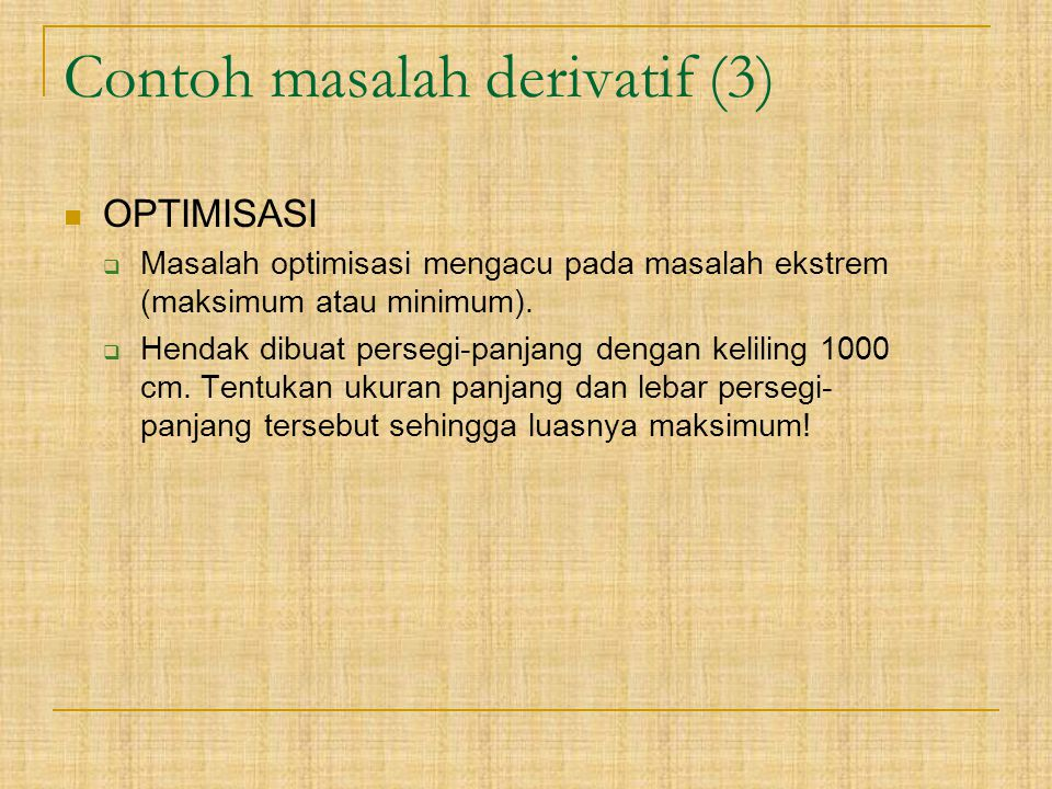 Contoh masalah derivatif (3)