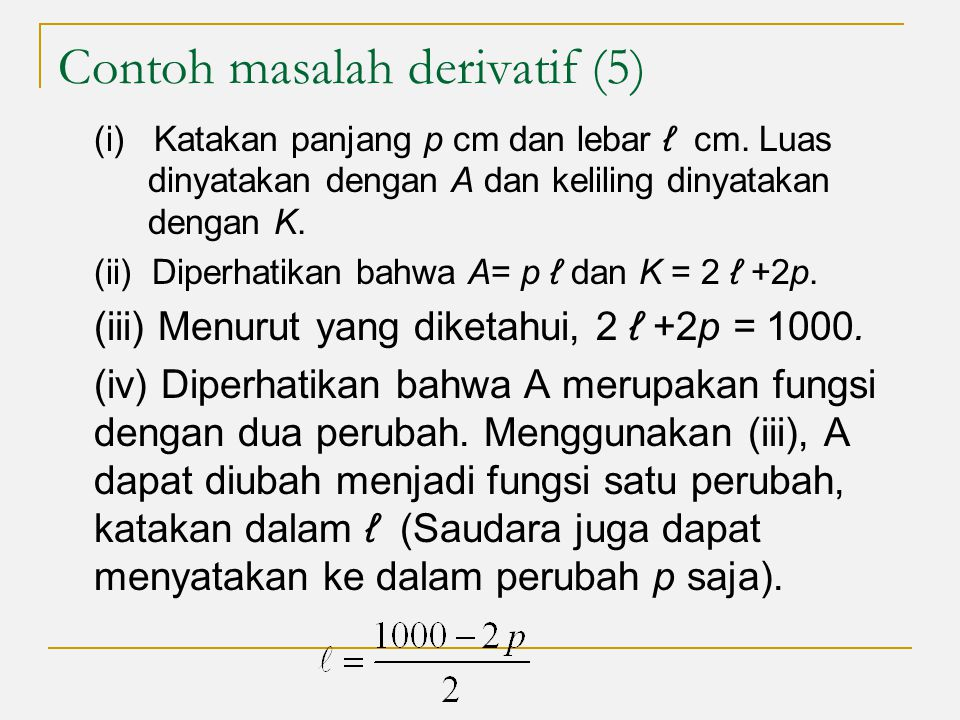 Contoh masalah derivatif (5)