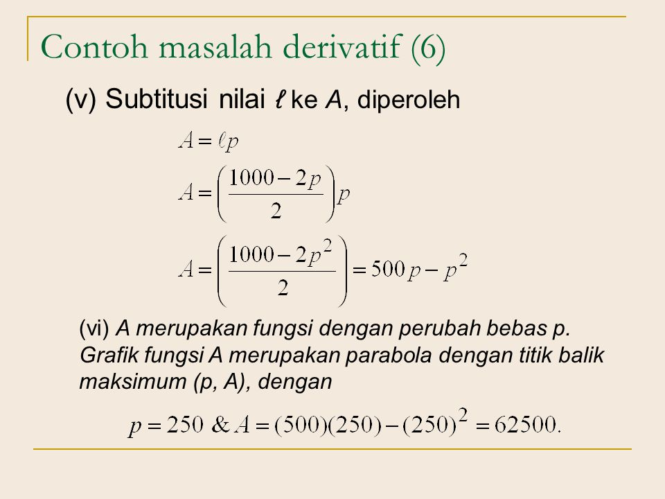 Contoh masalah derivatif (6)