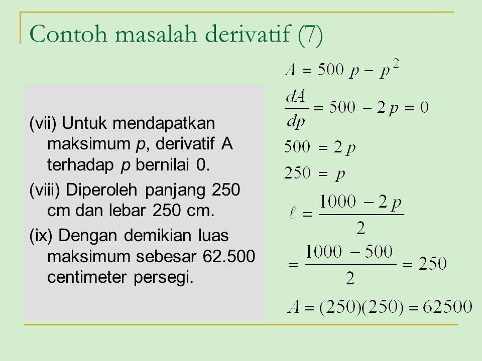 Contoh masalah derivatif (7)