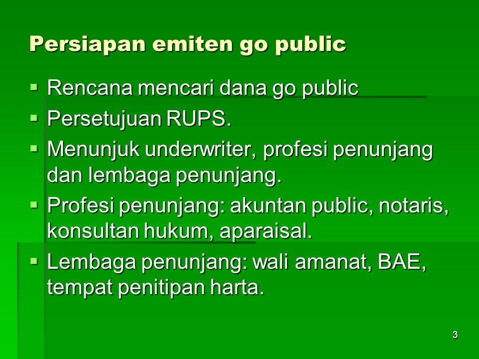 Persiapan emiten go public