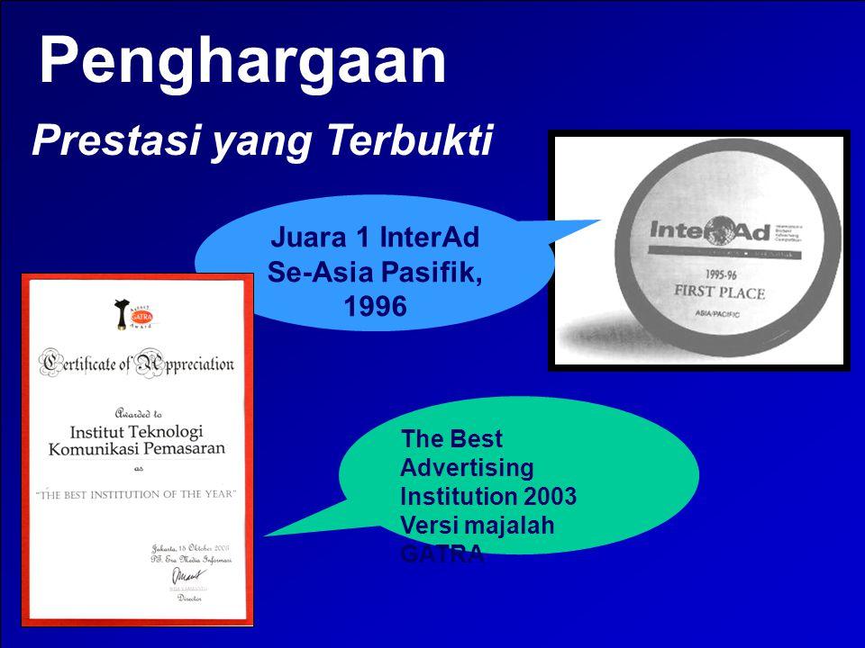 Penghargaan Prestasi yang Terbukti Juara 1 InterAd