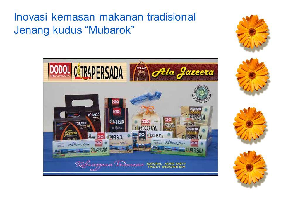 Inovasi kemasan makanan tradisional Jenang kudus Mubarok