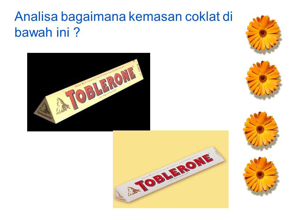 Analisa bagaimana kemasan coklat di bawah ini