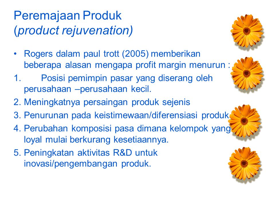 Peremajaan Produk (product rejuvenation)