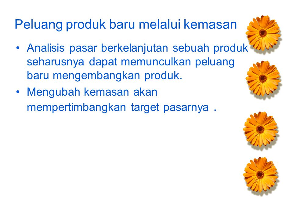 Peluang produk baru melalui kemasan