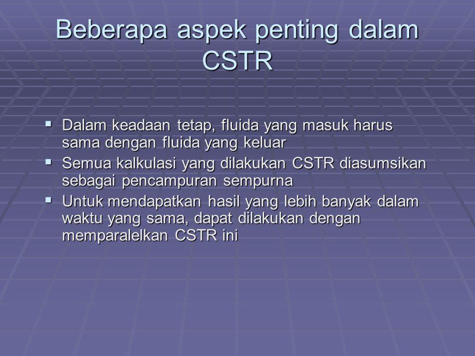 Beberapa aspek penting dalam CSTR