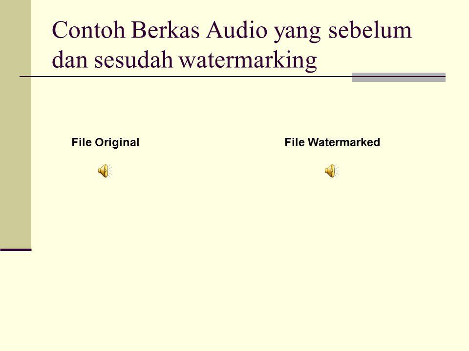 Contoh Berkas Audio yang sebelum dan sesudah watermarking