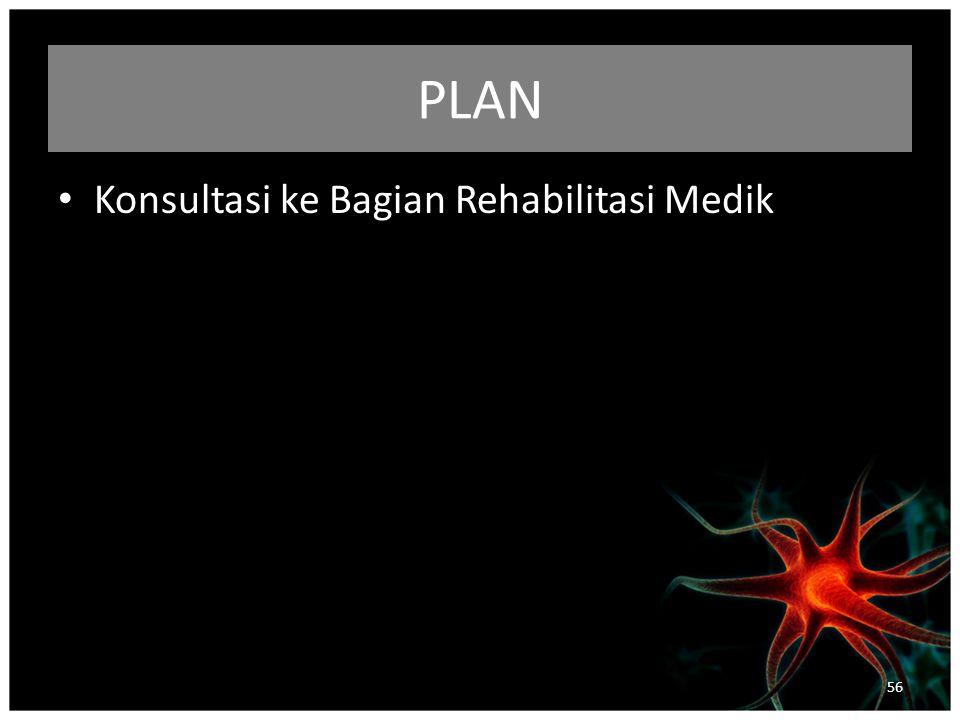 PLAN Konsultasi ke Bagian Rehabilitasi Medik