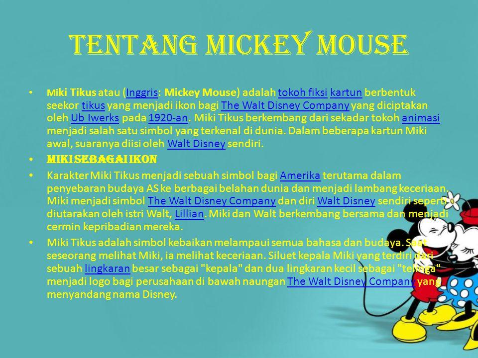 Tentang mickey mouse Miki sebagai ikon