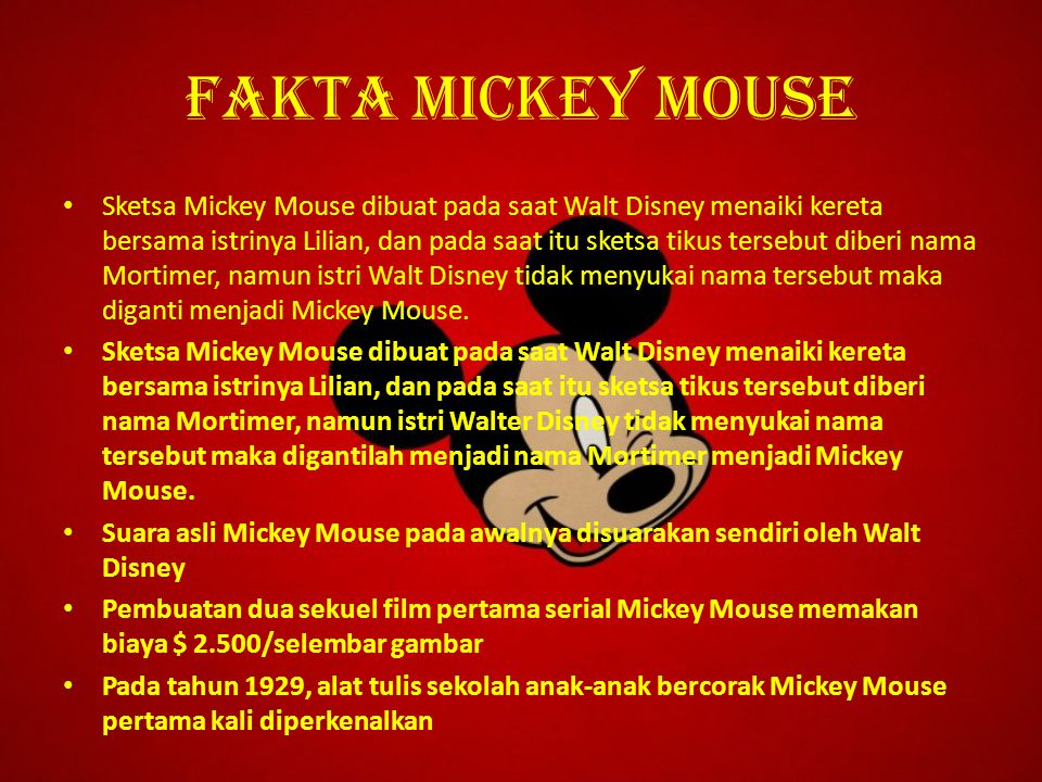 Fakta mickey mouse