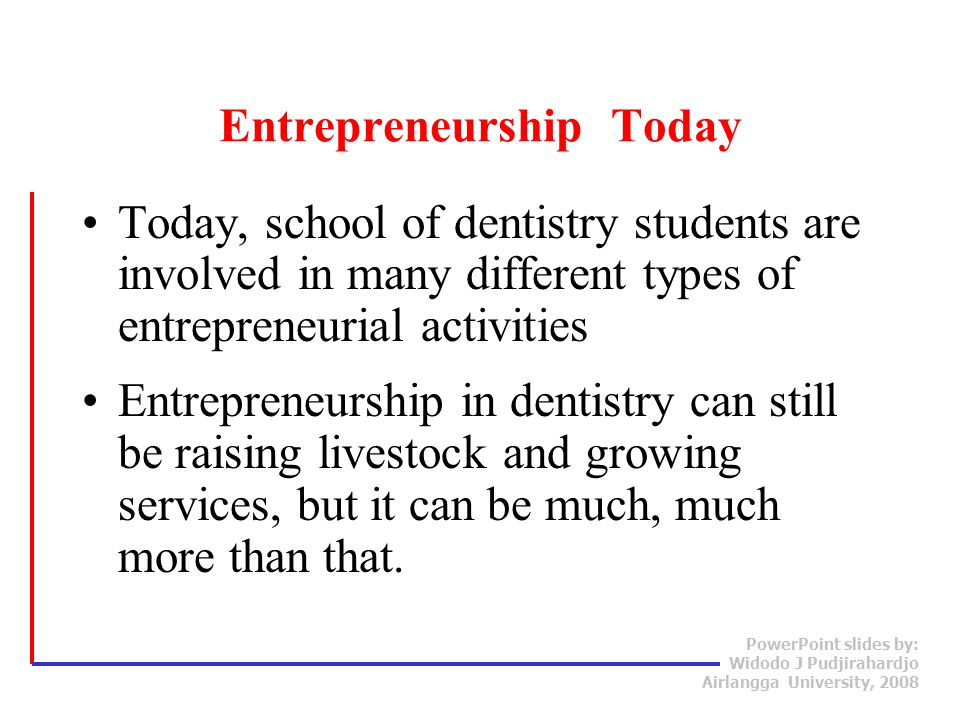 Entrepreneurship Today