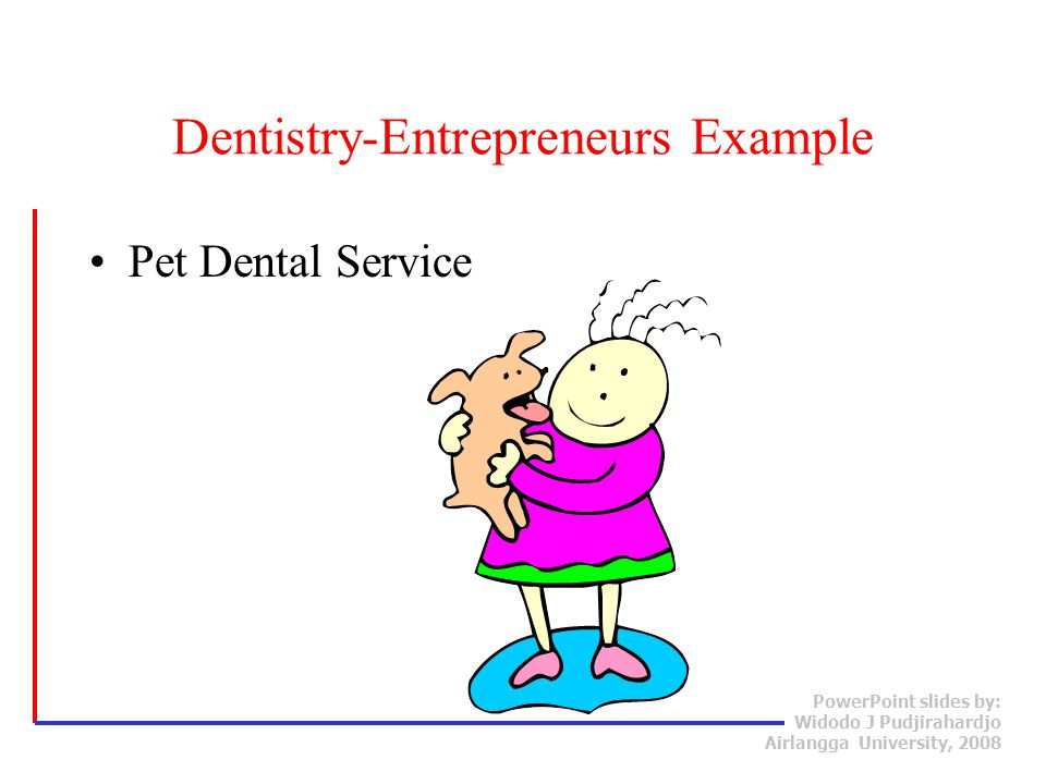 Dentistry-Entrepreneurs Example