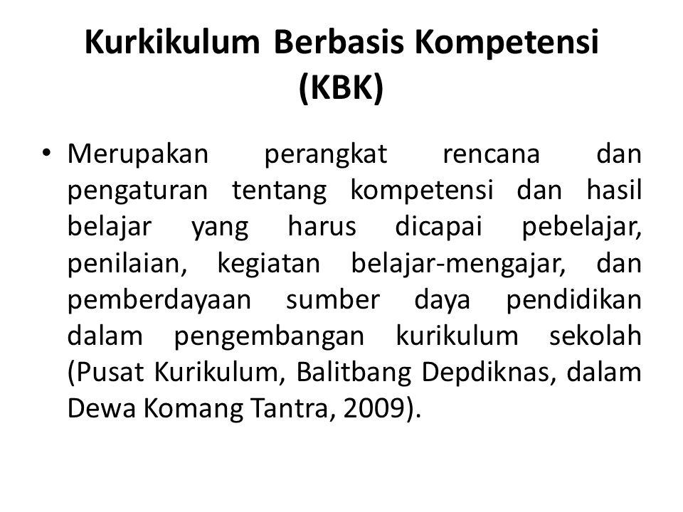Kurkikulum Berbasis Kompetensi (KBK)