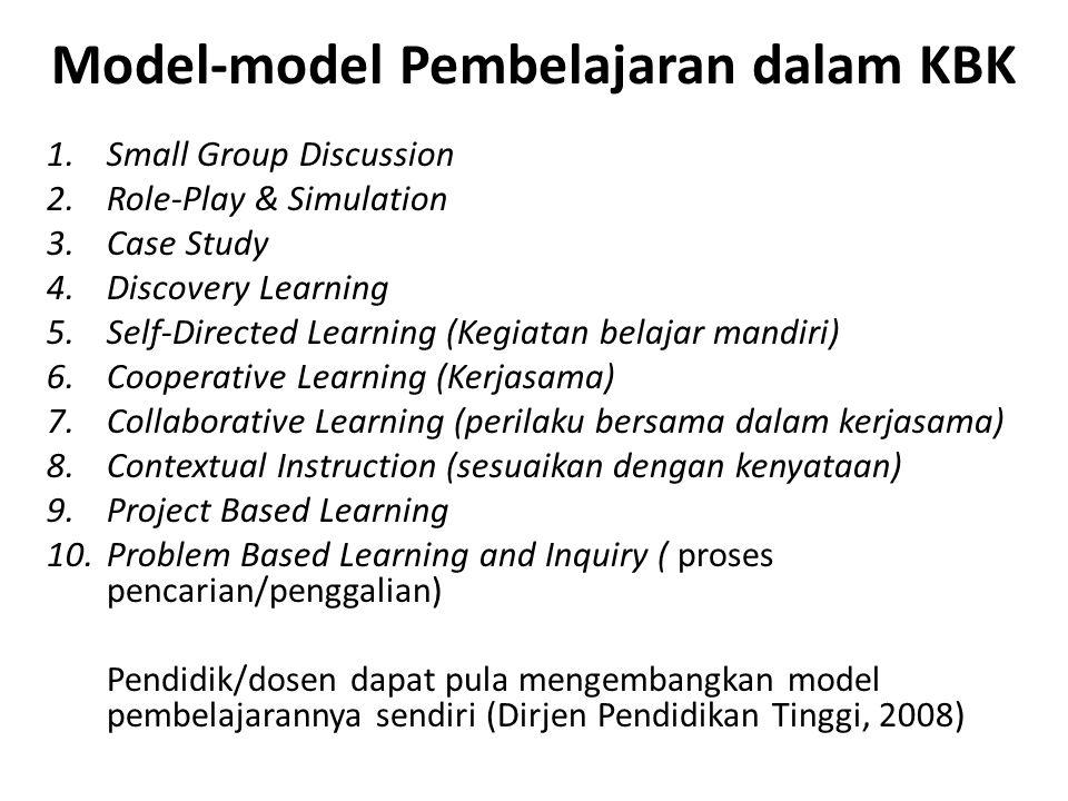 Model-model Pembelajaran dalam KBK