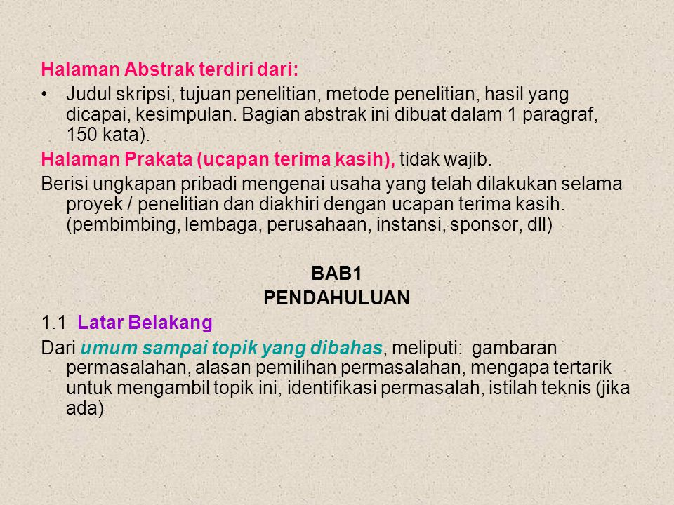 Halaman Abstrak terdiri dari: